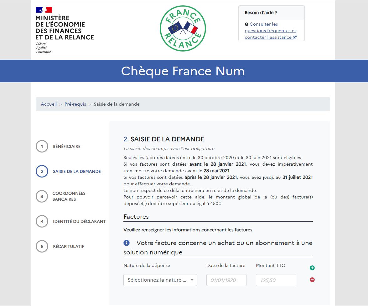 Chéque Num France